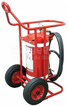 H3R Aviation Model B673 Red 65.00 lb UL Rating 4A:80B:C Wheeled Halotron® 1 Flight Line / Ramp Fire Extinguisher
