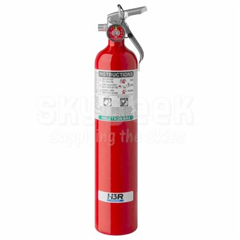 H3R Aviation Model 347 Red 3.7 lb UL Rating 5B:C HALOTRON® BrX Cockpit/Cabin Fire Extinguisher
