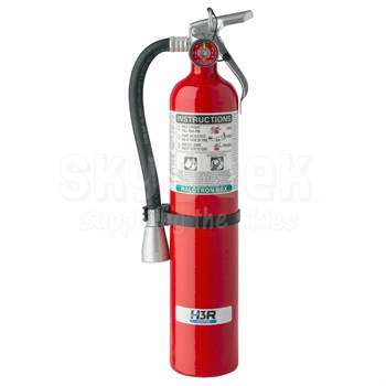 H3R Aviation Model 349 Red 3.7 lb UL Rating 5B:C HALOTRON® BrX Cockpit/Cabin Fire Extinguisher