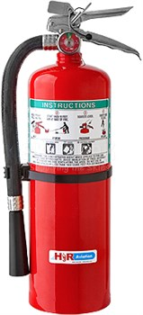 H3R Aviation Model B369 Red 9.0 lb UL Rating 10B:C Halon 1211 Flight line/Ramp Fire Extinguisher