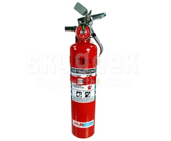 H3R Aviation Model C352TS Red 2.5 lb UL Rating 5B:C Halon 1211 Cockpit/Cabin Fire Extinguisher