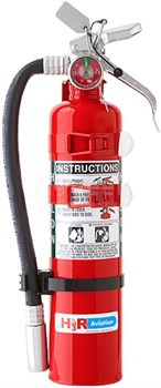 H3R Aviation Model C354TS Red 3.0 lb UL Rating 5B:C Halon 1211 Cockpit/Cabin Fire Extinguisher