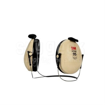 3M™ H6B/V PELTOR™ Optime™ 95 Beige/Black 21 db Behind-the-Head Earmuff
