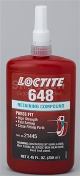 Henkel 21455 Loctite 648 Fluorescent Green High Strength Slip Fit Retaining Compound 250 Ml 8 45 Oz Bottle At Skygeek Com