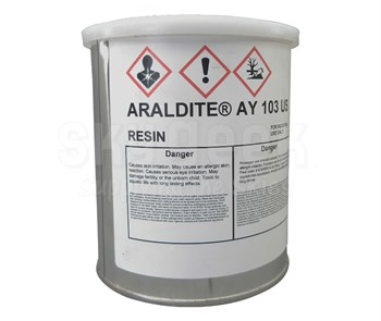 Huntsman 1602608 Araldite® AY-103 Yellow Huntsman Standard Spec Epoxy Adhesive Resin - Quart