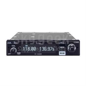 ICOM IC-A220 non-TSO'd Panel Mount 12-24 VDC VHF Air Band Transceiver
