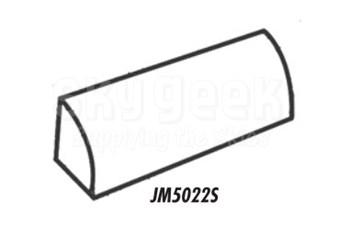 J & M Aircraft JM5022S Solid Quarter Round Door Seal - Priced by Foot