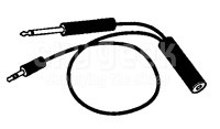 Pilot Products JB-33 CD Player patch cord for General Aviation applications