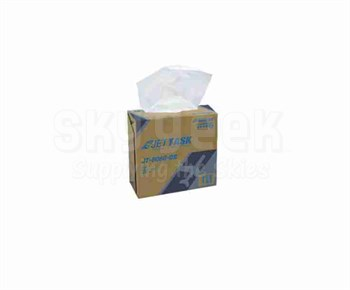 """JETTASK™ JT-8080-DB White 9.1"""" x 16.8"""" Heavy-Duty Wiping Cloth - 4 Ea - 80 Wipe/Pop-Up Boxes"""