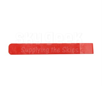 "Jus N Tyme JNT411B60 Red 6"" Single Edge (3/4"") Celcon Plastic Sealant Scraper"