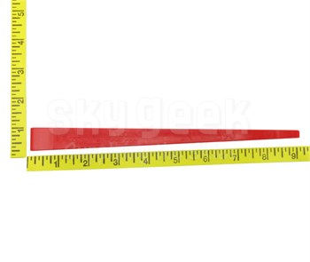 "Jus N Tyme JNT411B90 Red 9"" Double Edge (3/4"" & 1/4"") Celcon Plastic Sealant Scraper"