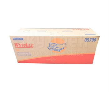 """WypAll® 05790 L40 White DRC Bonded Cellulose 16.4"""" x 9.8"""" Disposable Cleaning & Drying Towel - 100 Wipe/Pop-Up Box"""
