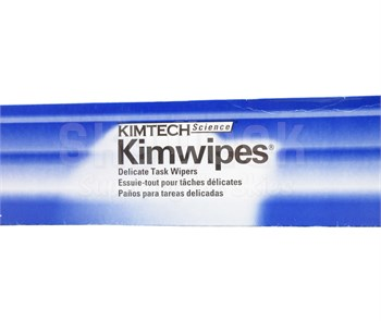 "Kimwipes® 34721 White 14.7"" x 16.6"" Light Duty Delicate Task Wipers - 90 Wipe/Pop-Up Box"