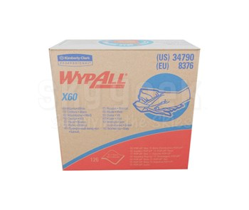 """WypAll® 34790 X60 White 9.1"""" x 16.8"""" Reusable Cloth - 126 Wipe/Pop-Up Box"""