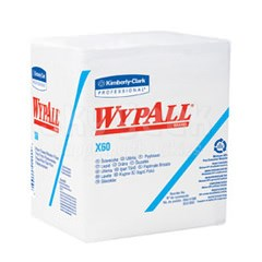 "WypAll® 34865 X60 White 12.5"" x 12"" Washcloth - 76 Cloth/Pack"