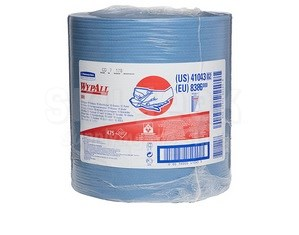 "WypAll® 41043 X80 Blue 12.5"" x 13.4"" Wiper - 475 Sheet/Jumbo Roll"