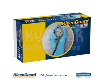 KleenGuard™ 57372 G10 Blue Medium Powder-Free Textured Fingertip Grip Nitrile Gloves - 100 Glove/Box