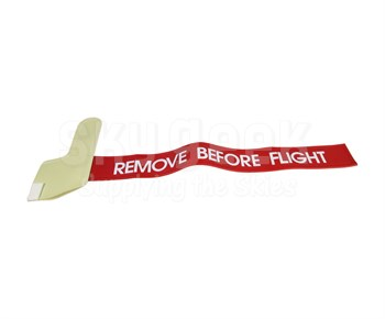 """Lawrence Fabric AN3115-1/PH500 Red/White 7/8"""" Cessna Style Pitot Cover"""