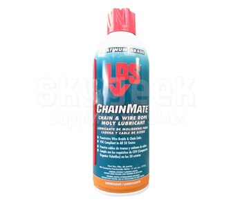 LPS® 02416 ChainMate Dark Gray Chain & Wire Rope Moly Lubricant - 11 oz Aerosol Can