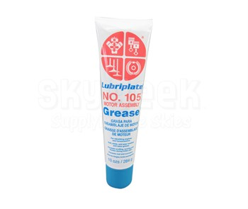 LUBRIPLATE® L0034-094 No. 105 White NLGI Grade 0 Motor Assembly Petroleum Lubricating Grease - 10 oz (284 Gram) Tube