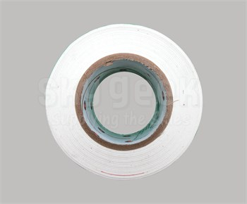 "Luminary Air Group M9948-3000 White Matte Polyethylene Tape - 3"" x 60 Yard Roll"