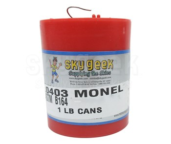 Military Standard MS20995NC25 Monel Safety Wire (1 lb. Roll) - 0.025 Diameter
