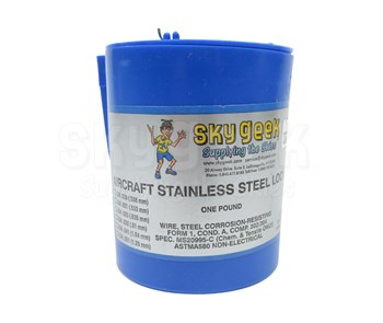 Military Standard MS20995C60 Stainless Steel 0.060 Diameter Safety Wire - 1 lb Roll