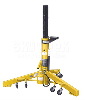 "Meyer Hydraulic A722B TriTask Yellow 16,000 Lbs Capacity 22"" to 36"" Hydraulic Aircraft Jack"