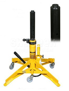 "Meyer Hydraulic A519 TriTask Yellow 6,000 Lbs Capacity 19"" to 34"" Hydraulic Aircraft Jack"