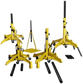 Meyer Hydraulic A600JS-A TriTask Yellow Basic Aircraft Jack Set