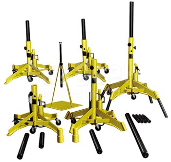 Meyer Hydraulic A600JS-B TriTask Yellow Deluxe Aircraft Jack Set
