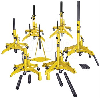 Meyer Hydraulic A600JS-C TriTask Yellow Premium Aircraft Jack Set