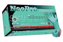 Microflex NPG-888-M NeoPro® Green Medium 5.1 mil Powder-Free Textured Fingers Chloroprene Gloves - 100 Glove/Box