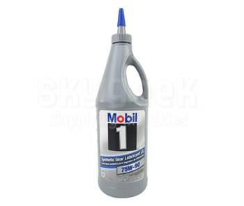 Mobil 1™ 104361 Amber SAE 75W-90 Synthetic Gear Lubricant - Quart Bottle