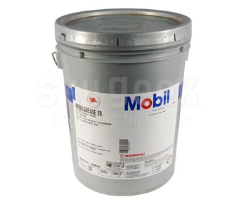 Exxon Mobil Mobilgrease 28 Red MIL-PRF-81322G Spec Synthetic Aviation Grease - 16 Kg (35 lb) Pail