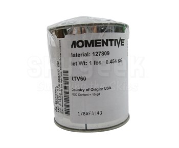 Momentive™ RTV-60-DBT-01 Red High-Temperature Silicone Rubber Compound - 1 lb A+B Kit