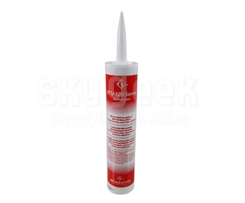 Momentive™ RTV-123-12C Black Silicone Adhesive Sealant - 300 mL Cartridge