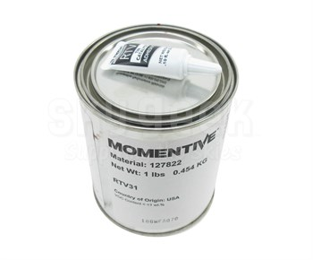 Momentive™ RTV-31-01 Red High Temp Silicone Rubber Compound - 0.454 Kg Kit