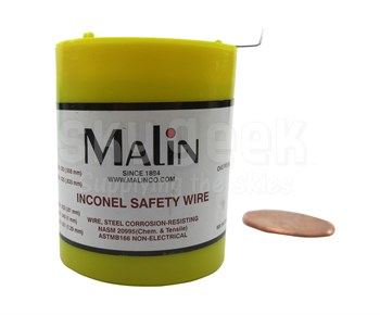 """Military Standard MS20995N32 Inconel 0.032"""" Diameter Safety Wire (1 lb Roll)"""