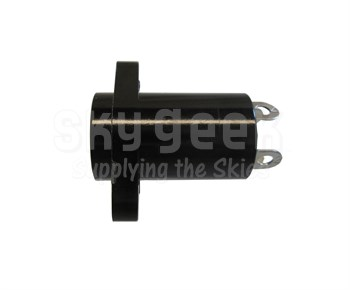 Amphenol NEXUS TJ-120 Black Plastic In-Line Molded Contact 4-Conductor Flanged Rear-Mounted Telephone Jack