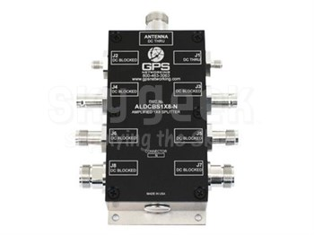GPS Networking NHIALDCBS1X4-T/5/MC 5-Volt DC Out TNC Female & Military Connector Amplified 1X4 GPS Splitter