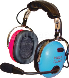 Pilot USA PA-1151 Pilot Cadet Headset- Blue/Red or Pink