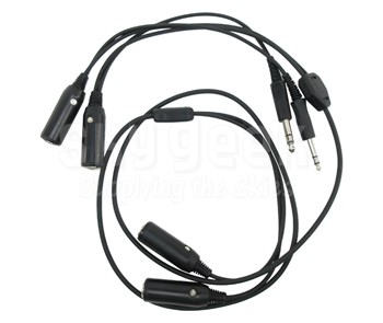 Pilot USA PA-72S Dual Headset Y-Adapter for Monaural or Stereo Headsets