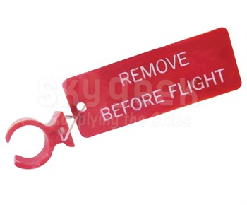 """Paco Plastics S4933959-521 FAA-PMA Red """"REMOVE BEFORE FLIGHT"""" Tag Circuit Breaker Lockout Ring"""