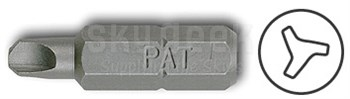 "Pan American Tool 28-505 Steel #10 NAS4005 Style PAT-TWD-5 1"" Long Tri-Wing Screw Insert Bit"