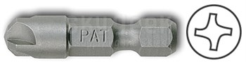 "Pan American Tool 28-754 Steel #4 Style PAT-170-4 1-1/4"" Long Torq-Set Screw Power Insert Bit"