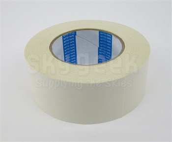 "Nitto P-55 White 2"" 17-MIL BMS 5-133G Type II Class 1 Spec Flame Retardant Double Coated Cloth Tape - 2"" x 25 Yard Roll"