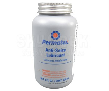 Permatex® 80078 Silver Aluminum Anti-Seize Lubricant - 236 mL (8 oz) Brush-Top Bottle