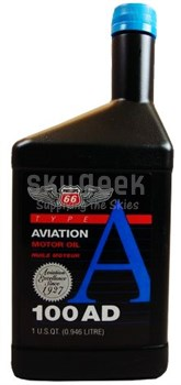 Phillips 66® Aviation Type A 100AD Piston Engine Aircraft Oil - Quart (946 mL) Bottle