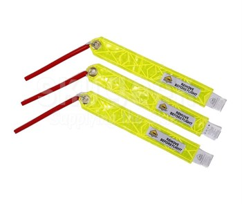 Plane Sights™ PSEMBSWC13 Reflective Yellow Round Style (Embraer 100/300/500/650) Static Wick Covers - 3 Cover/Pack